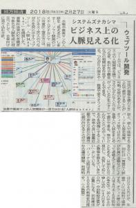 山陽新聞に「人脈Master」の記事が掲載されました!